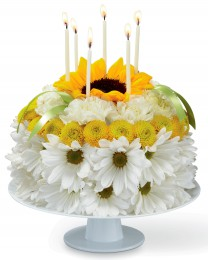 The Birthday Smiles Floral Cake