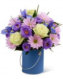 The Color Your Day With Tranquility Bouquet
