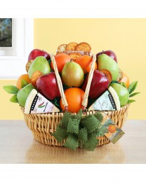 Farmers Market Fruit and Cheese Basket