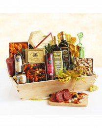 Ultimate Meat & Cheese Wooden Gift Crate